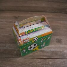 Children's Cardboard Meal Boxes Printed Football - pack of 10