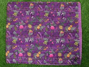 Katha Quilt Bedspreads Coverlet Donnas King  Size Home Cotton Indian Handmade