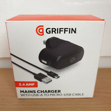GRIFFIN Mains Wall Charger 2.4 AMP 12W with USB to micro-USB Cable for Android
