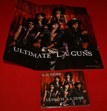 LA Guns - Ultimate La Guns - CD + Fold Out Band Poster Out Of Print VG++