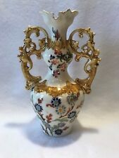 Antique Fischer J. Budapest Hungary Double Handled Ewer Vase Or Water Jug-Rare!!