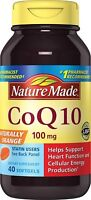 Nature Made CoQ10 (Coenzyme Q 10) 100 mg. Softgels 40 Ct