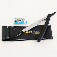 BARBER SALON STRAIGHT CUT THROAT SHAVING RAZOR RASOIRS RASOI Pouch + BLADES Free