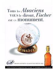 PUBLICITE ADVERTISING  2000   FISCHER  bière des ALSACIENS