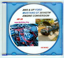 """2005+ Ford Mustang 4.6 4.0 to 5.0 302 347 351 427 Engine Swap """"How to"""" Video DVD"""