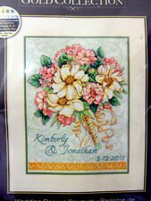 Wedding Record Bouquet Cross Stitch Kit Dimensions Gold Tim Coffey Aida Flowers