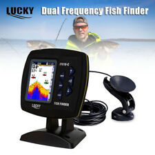 "LUCKY 3.5""Dual Frequency Fish Finder Sonar Alarm 328ft/100m White LED Blacklight"