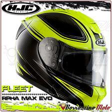 Casco Modulare HJC RPHA Max Evo Fleet Mc4h Carbonio Nero/giallo Fluo Taglia S