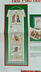 Nativity Bell Pull Cross Stitch Kit - Dimensions - Opened Package