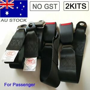 2kit Seat Lap Sash Belt Strap 2 Point Retractable Passenger Seatbelt For Toyota