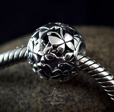 Genuine SOLID 925 Sterling Silver charm bead butterfly openwork fits bracelets