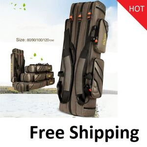 Portable Fishing Bags 3 Layer Multi-function Nylon Waterproof Waist Shoulder