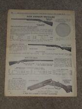 1940 Iver Johnson Shotguns Skeet Hercules Super Trap Price List AD Catalog Page