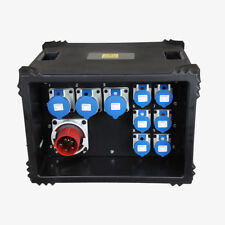 Distro box 63 amp 3 phase in 6x16 & 3x 32 single phase output