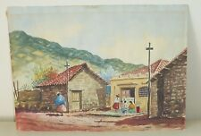 LATIN AMERICAN WATERCOLOR ON PAPER SIGNED BY THE ARTIST 1966