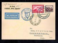 1933 Germany Graf Zeppelin Postcard Cover to Pernambuco Brazil LZ 127 Sieger