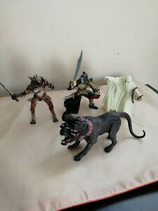 Papo Fantasy Mutant figures Skeleton, Ghost, Eagle warrior and 3 headed dog