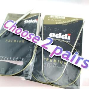 choose 2 Pairs ADDI Premium Circular Knitting Needles 2mm-5mm  turbo knit