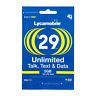 LYCAMOBILE Preloaded Sim $29 Prepaid 1Month Plan Text Talk 5GB Data Intl Calling