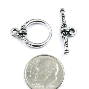 Rhodium Silver Heirloom Toggle Clasp TierraCast Pewter 1 Set