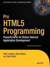 Pro Html5 Programming : Powerful Apis for Richer I