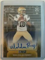 2020 Leaf Draft Malcolm Perry #BA-MP1 Rookie RC AUTO Gold SP Navy Miami Dolphins
