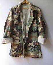 Mens Vintage Camo Jacket Shirt Camouflage US Military USMC Worn BDU Medium