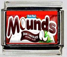 Mounds logo candy chocolate Italian photo 9mm Charm for link style bracelet