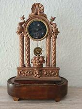 Miniatur Portaluhr Tischuhr Biedermeier Empire Uhr Zappler