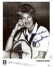 Virginia Wade signed 8x10 IMG promo photo / autograph