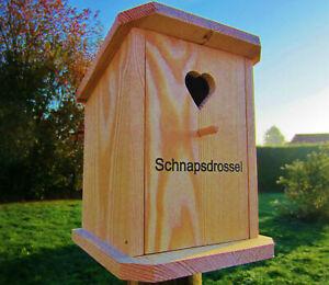 Vogelhaus ,Nistkasten, Vogelhäuschen ` Schnapsdrossel´