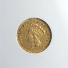 1856-S INDIAN PRINCESS GOLD $3 ANACS XF45 MEDIUM S UNDERGRADED!