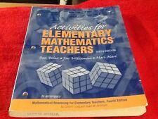 Activities for Elementary Mathematics Teachers