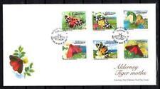 Alderney Aurigny 2012 mariposas FDC nueva 1er elección