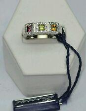 Anello gioielli marca Zoccai oro bianco 18 kt con  diamanti pietre naturali.