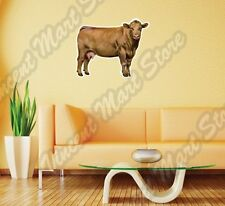 "Brown Cow Milk Calf Farm Countryside Farming Wall Sticker Interior Decor 25""X20"""