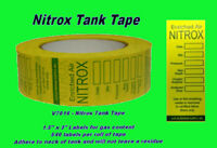 Nitrox Tank Tape Content Certificate Tank Sticker label Scuba Diving Decal NT42