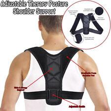 Black Posture Corrector Adjustable Clavicle Back Support Brace for Men & Women