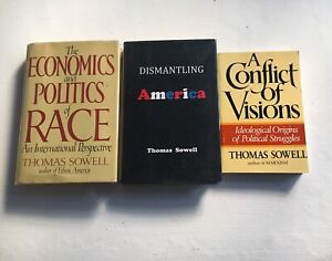Thomas Sowell Lot of 3 Books Economics Politics of Race RARE Hardcover Nice Copy