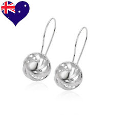On Trend High Quality Modern Euro Ball Drop Dangle Filigree Earrings-17mm Round