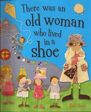 2x Kate Toms Books THE WHEELS ON THE BUS GO ROUND, OLD WOMAN WHO LIVED IN A SHOE