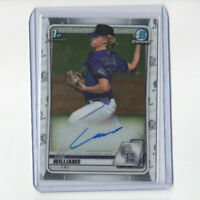 2020 Bowman Chrome Draft Case Williams Autograph Rookie Card! Rockies RC AUTO