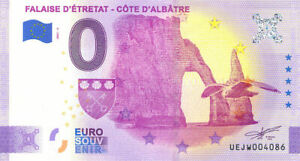 76 ETRETAT Falaise 4, 2021, Anniversaire, Billet Euro Souvenir