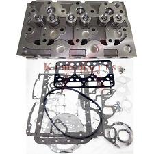 New Complete Cylinder Head Assy Valves & Full Gasket Set for Kubota D1101 DH1101
