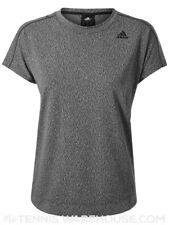 Adidas ClimaLite Camiseta Top Jacquard DH3670 Gris Carbono Real (S)