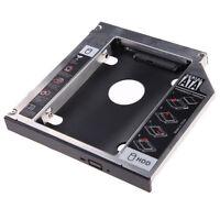 Universal 12.7mm SATA Portátil 2nd HDD HD SSD caddy disco duro Funda para CD ROM