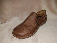 Born Noley Loafer Brown/Umber Leather Shoe Slip-On Women's 6 M/W New DFCT