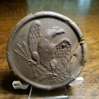 Civil War Recovered Damaged Brass Eagle Breast Plate