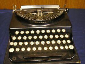 Vintage Remington Portable Typewriter Junior  ? Scout ? 1930's With Case