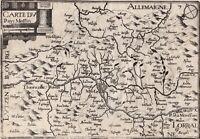 Carte Géographique XVIIe Metz Moselle Pays Messin Christophe Tassin 1634